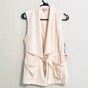 NWT Juicy Couture Linen Tie-Front Blouse